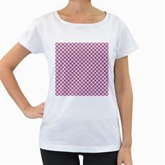 Cute Pretty Elegant Pattern Women s Loose Fit T Shirt (white) by creativemom