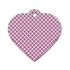 Cute Pretty Elegant Pattern Dog Tag Heart (One Side) by creativemom
