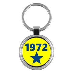 1972 Key Chains (round)  by theunrulyartist