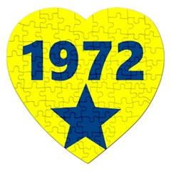 1972 Jigsaw Puzzle (heart) by theunrulyartist