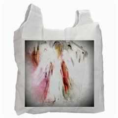 Abstract Angel In White Recycle Bag (one Side) by theunrulyartist