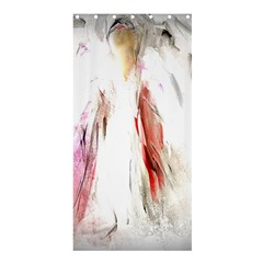 Abstract Angel In White Shower Curtain 36  X 72  (stall)  by digitaldivadesigns
