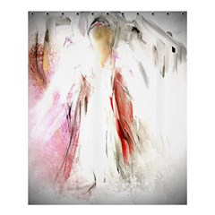 Abstract Angel In White Shower Curtain 60  X 72  (medium)  by theunrulyartist