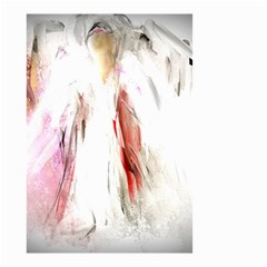 Abstract Angel In White Small Garden Flag (two Sides) by theunrulyartist