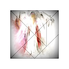 Abstract Angel In White Acrylic Tangram Puzzle (4  X 4 ) by theunrulyartist