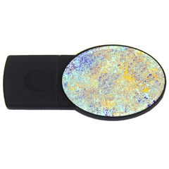 Abstract Earth Tones With Blue  Usb Flash Drive Oval (2 Gb)  by theunrulyartist