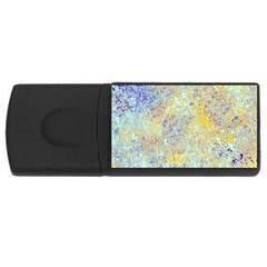 Abstract Earth Tones With Blue  USB Flash Drive Rectangular (2 GB)  by theunrulyartist