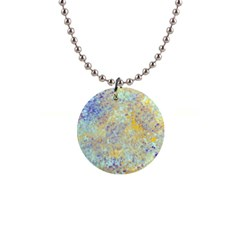 Abstract Earth Tones With Blue  Button Necklaces by theunrulyartist