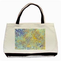 Abstract Earth Tones With Blue  Basic Tote Bag (two Sides)  by theunrulyartist