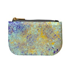 Abstract Earth Tones With Blue  Mini Coin Purses by digitaldivadesigns