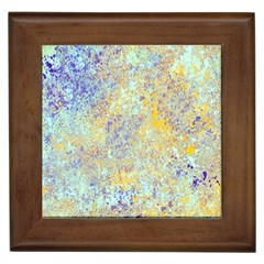 Abstract Earth Tones With Blue  Framed Tiles by theunrulyartist