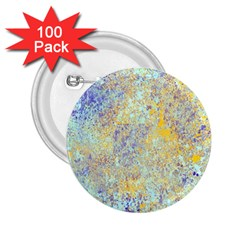 Abstract Earth Tones With Blue  2 25  Buttons (100 Pack)  by theunrulyartist
