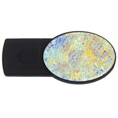 Abstract Earth Tones With Blue  USB Flash Drive Oval (4 GB)  by theunrulyartist