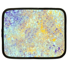 Abstract Earth Tones With Blue  Netbook Case (xxl)  by theunrulyartist