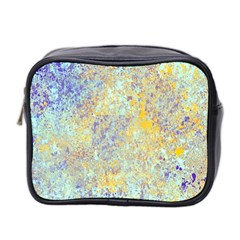 Abstract Earth Tones With Blue  Mini Toiletries Bag 2 Side by theunrulyartist
