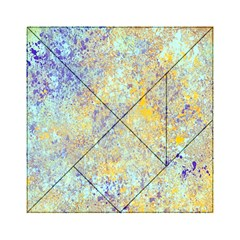 Abstract Earth Tones With Blue  Acrylic Tangram Puzzle (6  X 6 ) by theunrulyartist