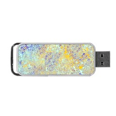 Abstract Earth Tones With Blue  Portable Usb Flash (one Side) by theunrulyartist