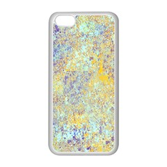 Abstract Earth Tones With Blue  Apple Iphone 5c Seamless Case (white)