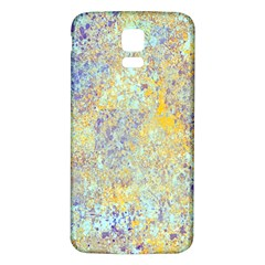 Abstract Earth Tones With Blue  Samsung Galaxy S5 Back Case (white)