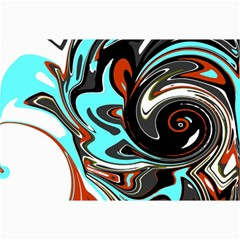 Abstract In Aqua, Orange, And Black Collage 12  X 18  by digitaldivadesigns