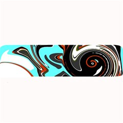 Abstract In Aqua, Orange, And Black Large Bar Mats by theunrulyartist