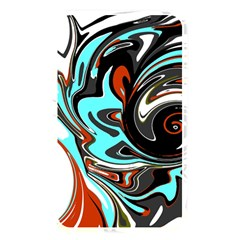 Abstract In Aqua, Orange, And Black Memory Card Reader by theunrulyartist