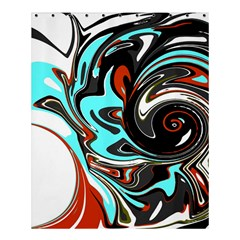 Abstract In Aqua, Orange, And Black Shower Curtain 60  X 72  (medium)  by theunrulyartist