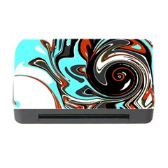 Abstract In Aqua, Orange, And Black Memory Card Reader With Cf by digitaldivadesigns