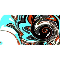 Abstract In Aqua, Orange, And Black You Are Invited 3d Greeting Card (8x4)  by theunrulyartist