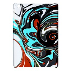 Abstract In Aqua, Orange, And Black Apple Ipad Mini Hardshell Case by theunrulyartist