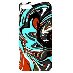 Abstract In Aqua, Orange, And Black Apple Iphone 5 Hardshell Case With Stand by theunrulyartist