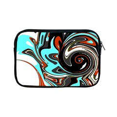 Abstract In Aqua, Orange, And Black Apple Ipad Mini Zipper Cases by theunrulyartist
