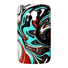 Abstract in Aqua, Orange, and Black Samsung Galaxy Duos I8262 Hardshell Case  by theunrulyartist