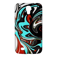 Abstract In Aqua, Orange, And Black Samsung Galaxy Mega 6 3  I9200 Hardshell Case by theunrulyartist