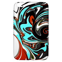 Abstract In Aqua, Orange, And Black Samsung Galaxy Tab 3 (8 ) T3100 Hardshell Case  by digitaldivadesigns