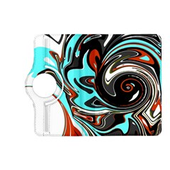 Abstract In Aqua, Orange, And Black Kindle Fire Hd (2013) Flip 360 Case by theunrulyartist
