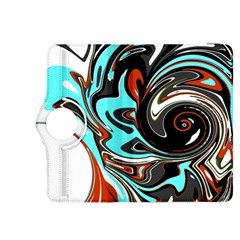 Abstract In Aqua, Orange, And Black Kindle Fire Hdx 8 9  Flip 360 Case by theunrulyartist