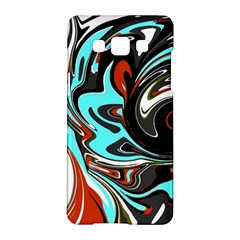 Abstract In Aqua, Orange, And Black Samsung Galaxy A5 Hardshell Case  by digitaldivadesigns