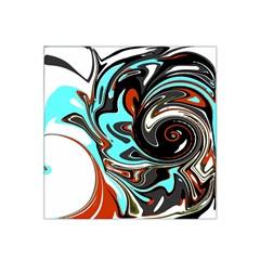 Abstract In Aqua, Orange, And Black Satin Bandana Scarf by digitaldivadesigns