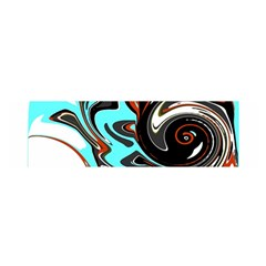 Abstract In Aqua, Orange, And Black Satin Scarf (oblong) by theunrulyartist