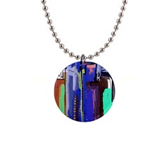 Abstract City Design Button Necklaces by theunrulyartist