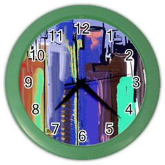 Abstract City Design Color Wall Clocks by theunrulyartist