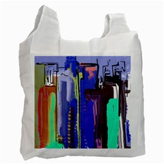 Abstract City Design Recycle Bag (one Side) by digitaldivadesigns