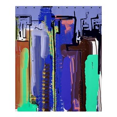 Abstract City Design Shower Curtain 60  X 72  (medium)  by theunrulyartist