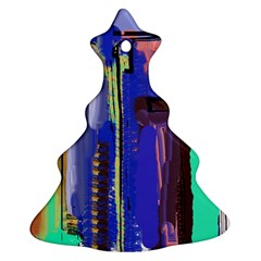 Abstract City Design Ornament (christmas Tree)