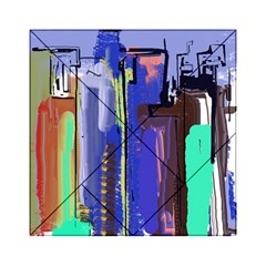 Abstract City Design Acrylic Tangram Puzzle (6  x 6 ) by theunrulyartist