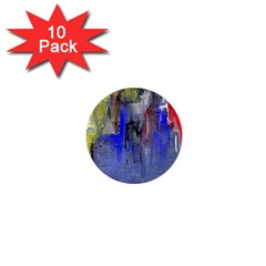 Hazy City Abstract Design 1  Mini Buttons (10 Pack)  by theunrulyartist