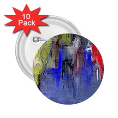Hazy City Abstract Design 2.25  Buttons (10 pack)  by theunrulyartist