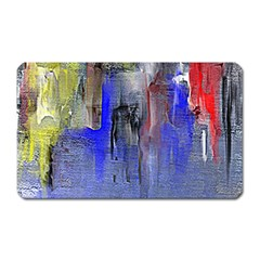 Hazy City Abstract Design Magnet (rectangular) by theunrulyartist