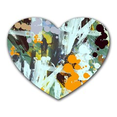 Abstract Country Garden Heart Mousepads by theunrulyartist